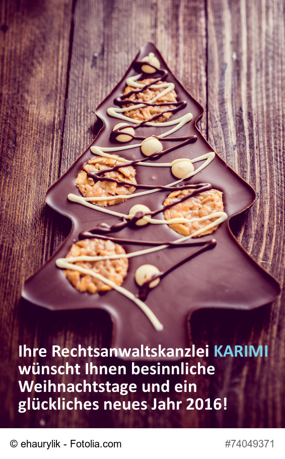 Rechtsanwaltskanzlei Karimi wünscht frohe Weihnachten