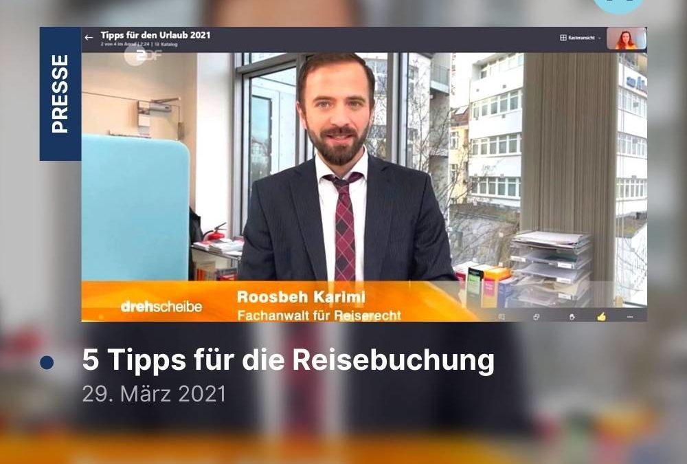 ZDF Drehscheibe: 5 Tipps für die Reisebuchung