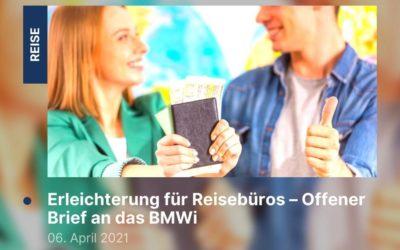 Erleichterung für Reisebüros – Offener Brief an das BMWi